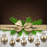 Abstract background with christmas balls. Royalty Free Stock Image