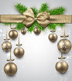 Abstract background with christmas balls. Stock Image