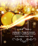 Abstract background with Christmas balls Stock Photo