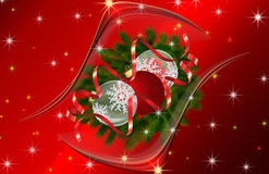 Abstract  background with Christmas balls . Stock Photography