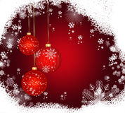 Abstract  background with Christmas balls . Abstract red   background with Christmas balls Royalty Free Stock Images