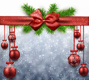 Abstract background with christmas balls. Royalty Free Stock Photos