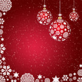 Abstract background with christmas balls. Background with christmas balls and snowflakes and circles Royalty Free Stock Photography