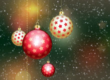Abstract background with christmas balls Stock Photos