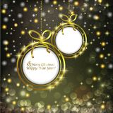 Abstract background with Christmas balls for text Stock Photography