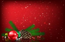 Abstract background with Christmas bells and decorations Stock Photography