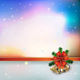 Abstract background with Christmas bells and snowflakes Royalty Free Stock Photography