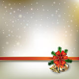 Abstract background with Christmas bells and snowflakes. Abstract golden background with Christmas bells and snowflakes royalty free illustration