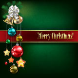 Abstract background with Christmas bells and white decorations Royalty Free Stock Photo