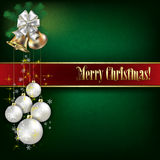 Abstract background with Christmas bells and white decorations Royalty Free Stock Photography