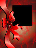 Abstract background with christmas bow Stock Photos