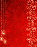 Abstract background with christmas decorations. Red abstract background with christmas decorations Stock Photos