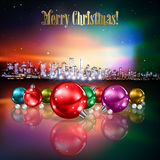Abstract background with Christmas decorations Royalty Free Stock Photos