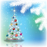 Abstract background with Christmas decorations Stock Images