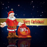 Abstract background with Christmas decorations Royalty Free Stock Image