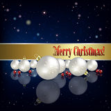 Abstract background with Christmas decorations Stock Image