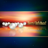 Abstract background with Christmas decorations. Abstract blue background with white Christmas decorations Stock Image