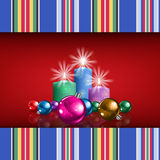 Abstract background with Christmas decorations Stock Photography