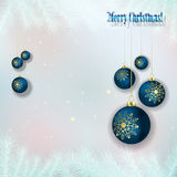 Abstract background with Christmas decorations Royalty Free Stock Photography