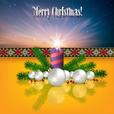 Abstract background with Christmas decorations Royalty Free Stock Photo