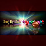 Abstract background with Christmas decorations. Abstract dark blue background with Christmas decorations royalty free illustration