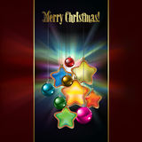 Abstract background with Christmas decorations. Abstract dark red background with Christmas decorations Royalty Free Stock Image