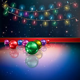 Abstract background with Christmas decorations. Abstract background with Christmas lights and decorations Royalty Free Stock Images