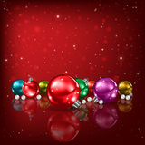 Abstract background with Christmas decorations Stock Photo