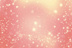 Abstract Background with Christmas Glitter Defocused Bokeh, Bl. Inking Stars and snow flakes. Blurred Soft colored Stock Illustration