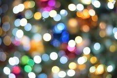 Abstract background Christmas illumination blur Stock Photography