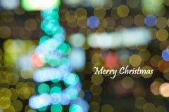 Abstract background Christmas illumination blur Stock Image
