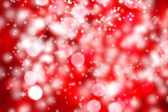 Abstract background of christmas lights. Abstract background of christmas red lights with snow Stock Photos