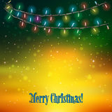 Abstract background with Christmas lights Stock Photos