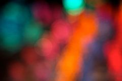 Abstract Background of Christmas Lights Stock Photo