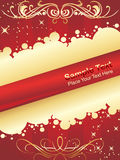 Abstract background of christmas ornamented Stock Images