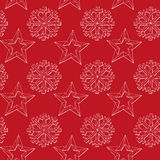 Abstract background Christmas snowflakes and star. Pattern Vector illustration Royalty Free Stock Photos