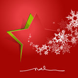 Abstract background with Christmas star and NOEL text. Stock Images