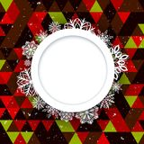 Abstract background Christmas style. Beautiful figured frame of snowflakes. Bright juicy colors Stock Photography