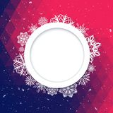 Abstract background Christmas style. Beautiful figured frame of snowflakes. Bright juicy colors Stock Photo