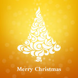 Abstract background in a Christmas style. Gold background Stock Images