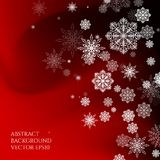 Abstract background Christmas style. Pattern with snowflakes. Falling snow Stock Image