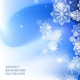 Abstract background Christmas style. Pattern with snowflakes. Falling snow Stock Photography