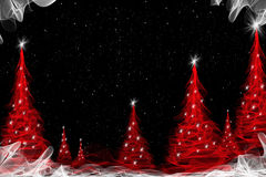abstract background with christmas tree Stock Photography