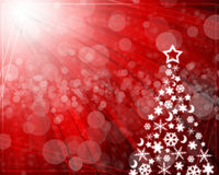 Abstract background with Christmas tree. Balls red and colored lights on Christmas royalty free illustration