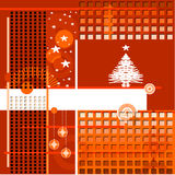 Abstract background, with christmas tree. Vector royalty free illustration