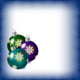 Abstract background with Christmas tree balls. Vector illustration royalty free illustration
