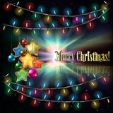 Abstract background with Christmas tree Royalty Free Stock Photo