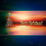Abstract background with Christmas tree. Abstract blue background with Christmas tree and decorations Royalty Free Stock Photos
