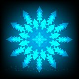 abstract background of Christmas tree royalty free illustration