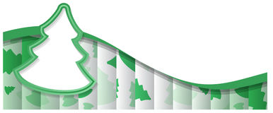 Abstract Background Christmas Tree Shape. Abstract Nackground With One Big Green Christmas Tree Shape And Lot of Small Trees on Background.Included EPS10 format stock illustration